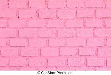 rose, mur, brique