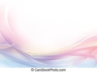 rose, pastel, résumé, fond blanc