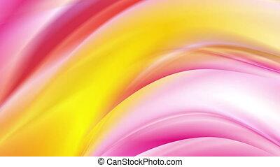 rose, résumé, jaune, clair, animation, vidéo, vagues