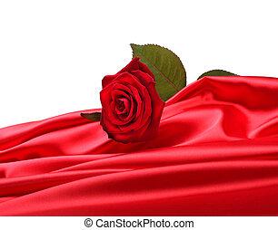 rose, soie, rouges
