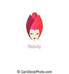 rose, tête