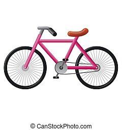 rose, vélo
