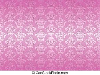 rose, vecteur, papier peint