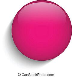 rose, verre, cercle, bouton, icône