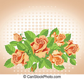 roses, amende, carte