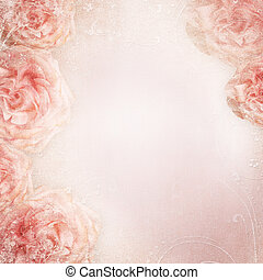 roses, fond, mariage
