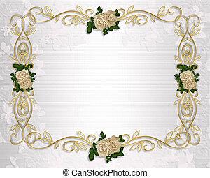 roses, invitation, mariage