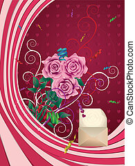 roses roses, carte voeux