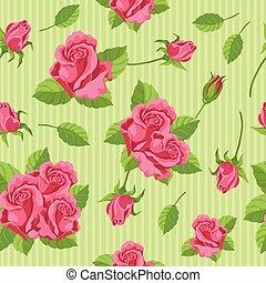 roses, seamless