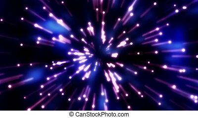 rotation, boucle, étoile filante