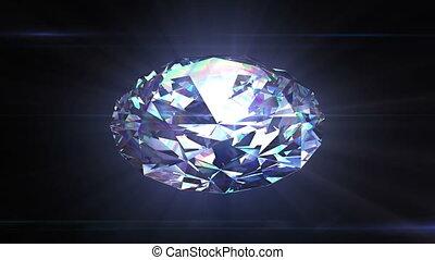 rotation, fait boucle, animation, diamant