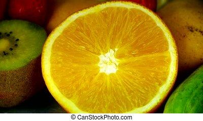 rotation, fruit, plaque., délicieux