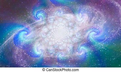 rotation, galaxie, spirale