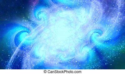 rotation, galaxie spirale