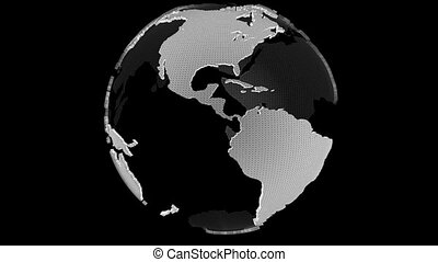 rotation, globe, boucle