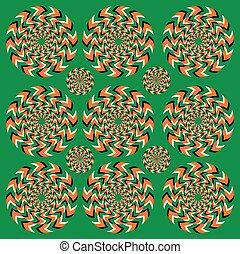 rotation, perpétuel, illusion