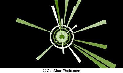 rotation, rayons, light., cercle, &