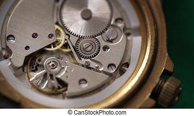 rouage horloge, urss, montre