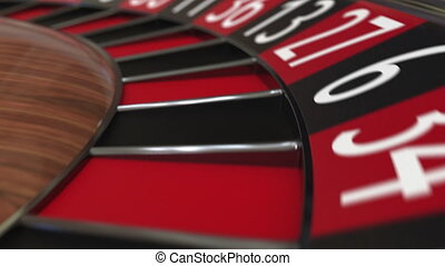 roue, 10, accès, balle, dix, roulette, casino, noir