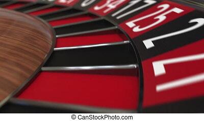 roue, 11, accès, balle, roulette, casino, onze, noir