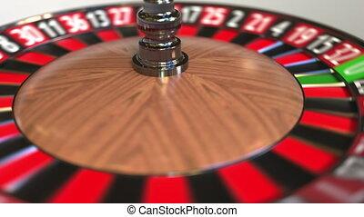 roue, 24, accès, balle, roulette, casino, twenty-four, animation, black., 3d