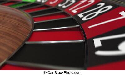 roue, accès, balle, 15, roulette, casino, noir, quinze