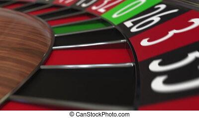 roue, accès, balle, roulette, casino, deux, 2, noir