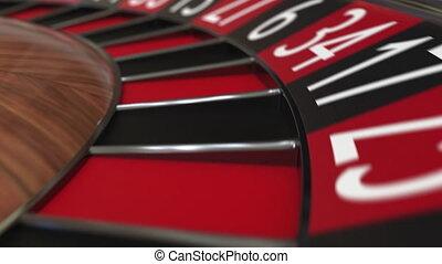 roue, accès, balle, roulette, casino, huit, 8, noir