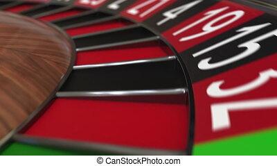 roue, accès, balle, roulette, casino, noir, 6, six