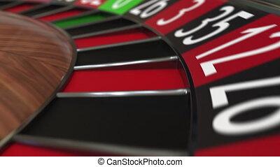 roue, accès, balle, roulette, casino, quatre, noir, 4