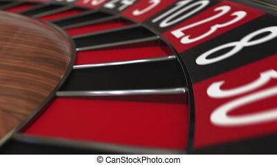 roue, accès, balle, trente, roulette, casino, noir, 30