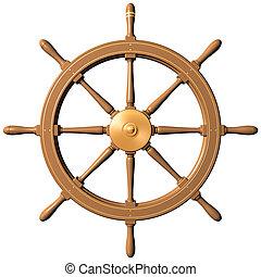 roue, bateau