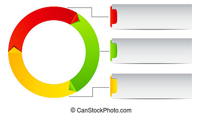 roue, concept, coloré, illustration, vecteur, temps