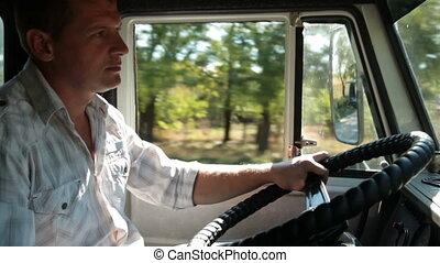 roue, conducteur camion