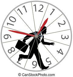 roue, courses, business, horloge, course rat, hamster, homme