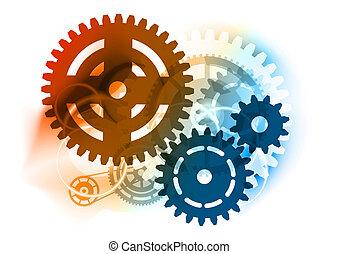 roue dentée, industriel