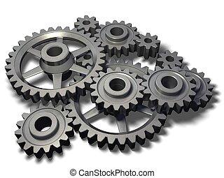 roue dentée, mécanisme