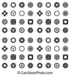 roue, engrenage, roue dentée, pattern., seamless, machine, vecteur, illustration.