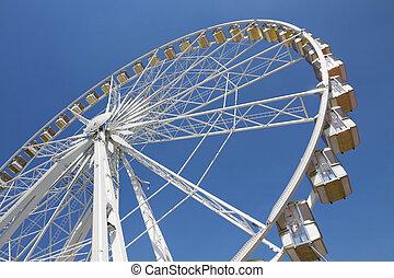roue, ferris, parc, amusement