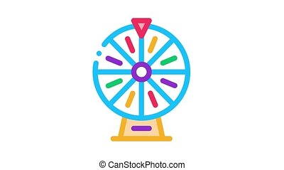roue, fortune, icône, animation