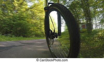 roue, mouvement, vélo