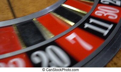 roue roulette, rotation
