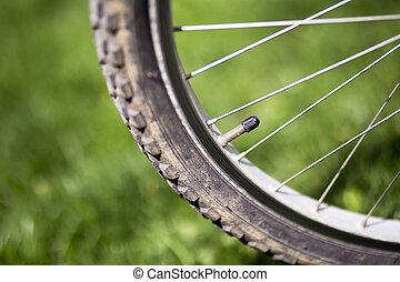 roue, soupape, vélo