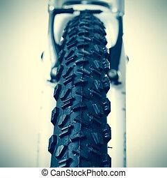 roue, vélo tout terrain, devant