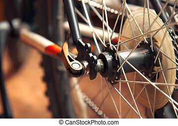 roue, vélo tout terrain, parties