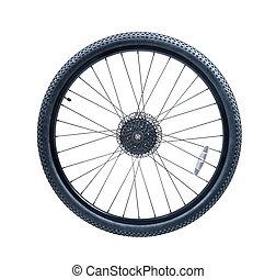 roue, vélo tout terrain, vélo