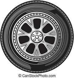 roue, (vector, tyre)