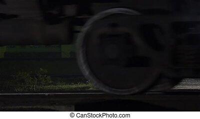 roues, train traque