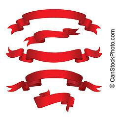 rouges, bannières, (vector)