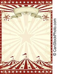 rouges, cirque, grunge, affiche